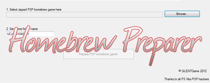 PS Vita Homebrew Preparer v0.1